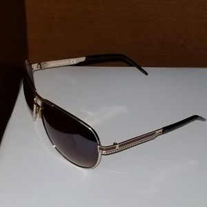 Rocawear Brown and Gold Aviator Sunglasses